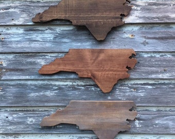 Wood State Cutout - North Carolina NC Wooden Cutout Wall Art Hanging Sign State Sign