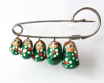 Pin brooch nesting dolls - kod41n