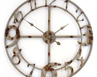 Vintage Zinc Skeleton Wall Clock - LOLW0356