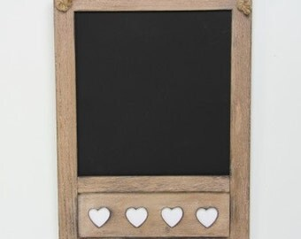 Chalkboard with Hearts. Blackboard - 7978