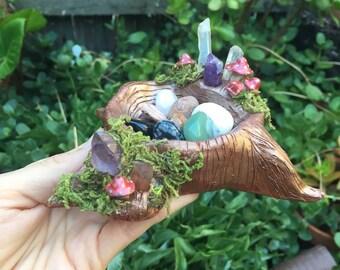 Enchanted Tree Stump Bowl