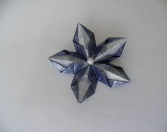 Origami flower brooch