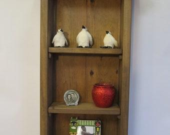Rustic wall shelf, cottage style shelf.