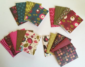 18 blank cards, greeting cards, note cards, garden themed cards