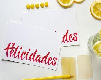 felicidades card   congratulations card   spanish card