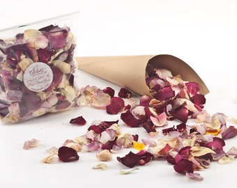Freeze dried second best rose petals. The petals come in a 1 liter bag (5 cups).Buy 55 cups get 5 cups for FREE!