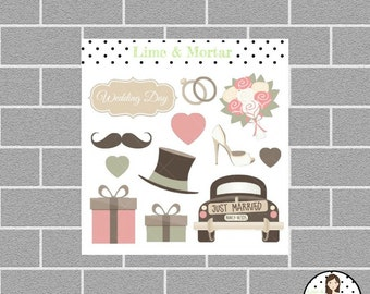 Mini Wedding Planner Stickers