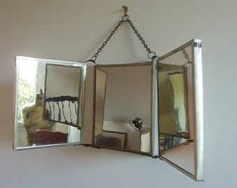 Mirror of Barber tryptic 50s vintage