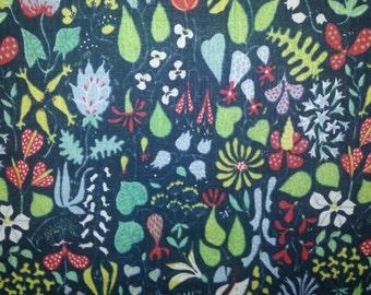 "Stig Lindberg fabric ""Herbarium"" made in Sweden 60s"