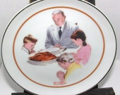 "ZERO SHIPPING! Vintage ""Thanksgiving"" by Norman Rockwell Special Edition Collector's Plate - Fine Porcelain"