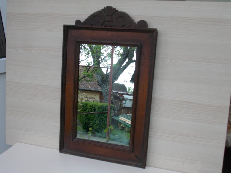 Antique wood mirror 1910 mirror home decor mirror decor for Home decor 1910