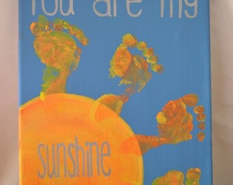 You Are My Sunshine - Canvas Footprint Kit
