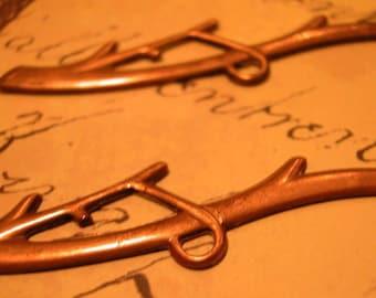Antique brass branch pendants