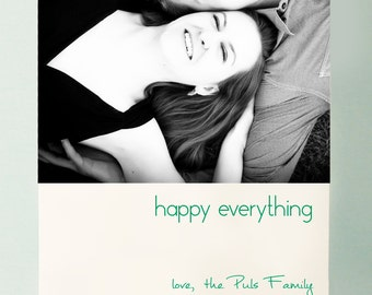 Letterpressed Happy Everything Holiday Cards