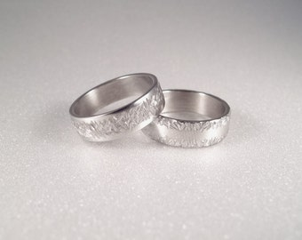 Promise scratched ring for him and her