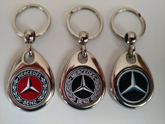 Mercedes benz 3 pack of keychains double sided for Mercedes benz keychain