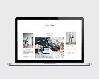 PREMADE BLOGGER TEMPLATE - Adagio - Simple, Chic, Affordable