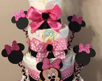 Minnie Mouse diaper cake 1