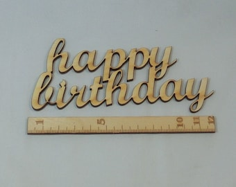 Writing happy birthday wooden contiguous letters other name possible