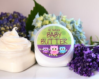 Organic Baby Butter// All Natural Baby Butter //Baby Massage//  Baby Butter // All Natural Baby Products//Baby Lotion//Baby Massage Butter