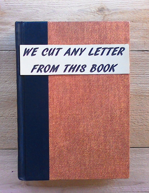 Book letter 125 initial book cut book letters letter like this item spiritdancerdesigns Images