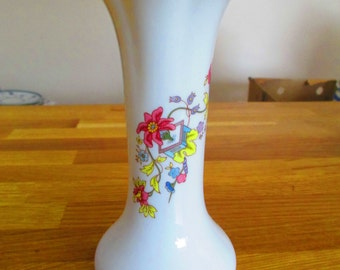 crown staffordshire bone china vase ref 3
