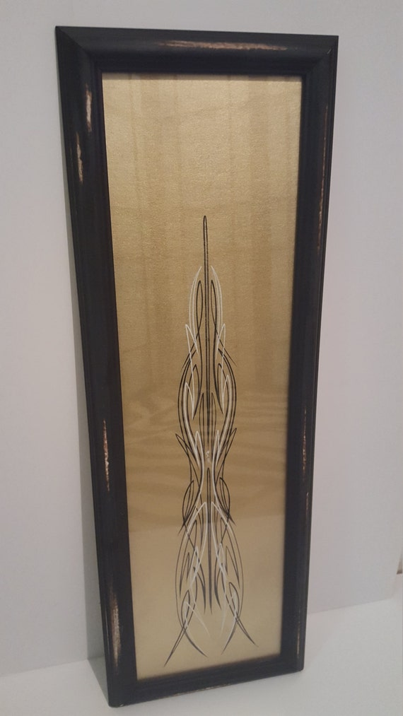 glass framed pinstriping