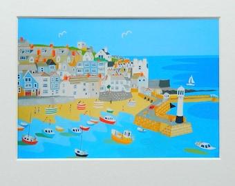 St Ives, Cornwall, Unframed Print, by artist Richard Lodey, Seaside View