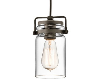Industrial pendant light Glass chandelier lighting