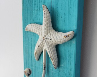 Starfish Hook with Blue/Turquoise Accent