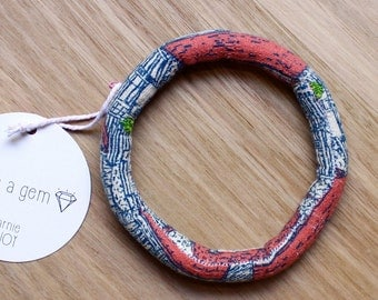 little village bold fabric bracelet