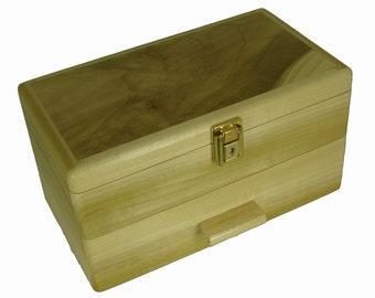 "Stash Box Marijuana -THE BROADMOOR, Free Deluxe Smoking Kit- Locking Stash Box, Colorado Aspen, 7""W X 12""L X 6"" H."