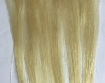 Micro Tape in Mini Tape-in air Extension Streaks Lightest Blonde hair highlights or streaks