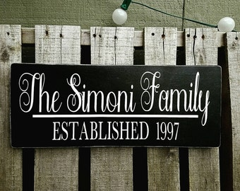 Personalized Family sign, gift, wedding, love