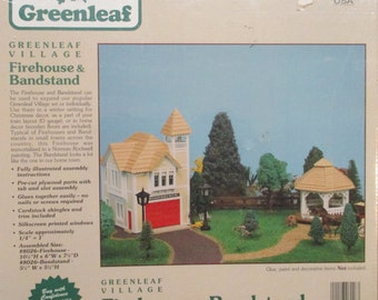 1990 Miniature Greenleaf Firehouse and Bandstand Kit