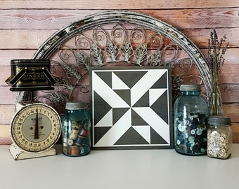 Quilt Square or Barn Quilt Painted Wood Sign