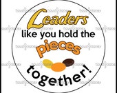 """Bosses Leaders Thank You """"Pieces"""" -Themed Tag"""