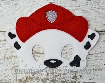 Fire Fighter Dog Children's Mask Marshall inspired Paw Patrol inspired Costume Theater Dress Up Hallowen Children's Pretend Play