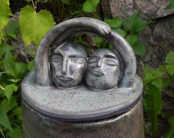 XL Sculptural Jar - handmade stoneware