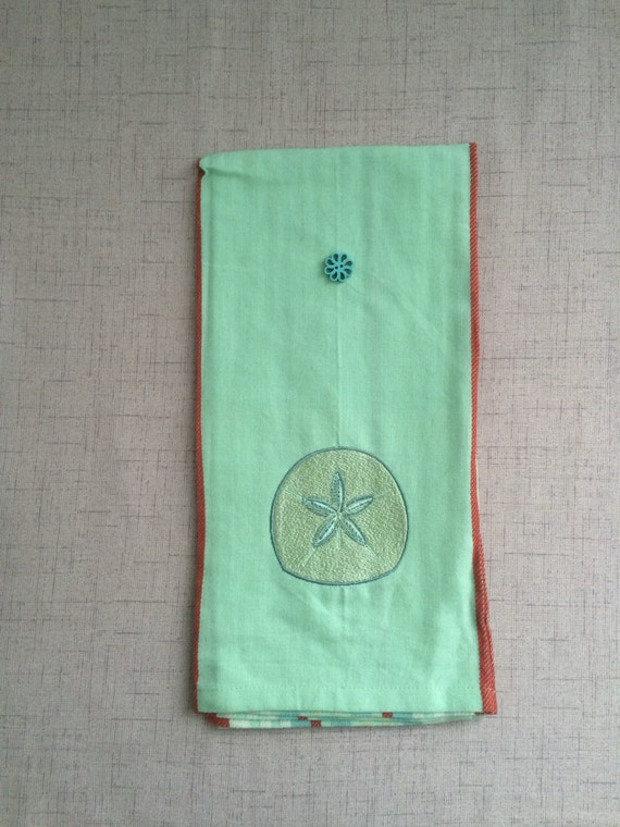 Bathroom towel sea life towel kitchen towel green towel for Sea green bathroom accessories