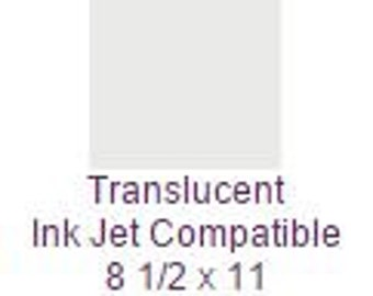 100 Pack of Translucent Ink Jet Compatible 8 1/2 x 11 Text 32 lb. Paper