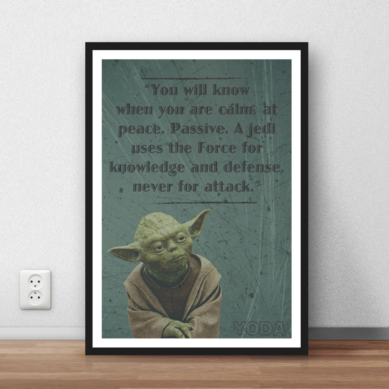 Jedi Master Yoda Quotes: Yoda Quote Star Wars 'A Jedi Uses The Force' Wall