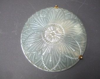 Art Deco French glass ceiling light shade. Plafoinnier