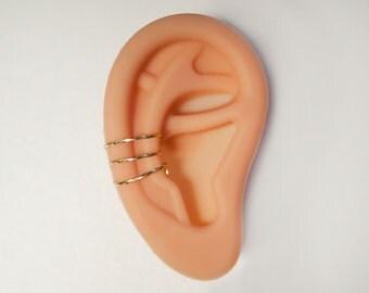 Golden Ear Cuff - Silver Ear Cuff - Elegant Ear Wrap - Non-Pierced Earring