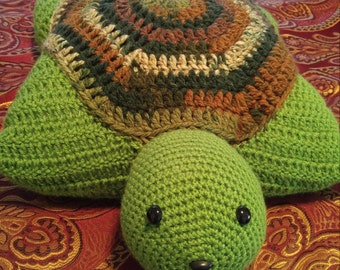 Turtle Pillow/Amigurumi Turtle/Pillow Turtle/Pillow for Children/Birthday Gift/Nap time Turtle/Play Turtle/Graduation Gift/Crocheted Turtle