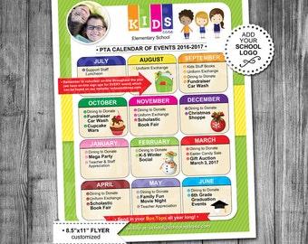"Event Flyer Printable   PTA Calendar   PTN Calendar   School Flyer   Education   Fundraiser   Flyer Design   Calendar Design   8.5""x11"""