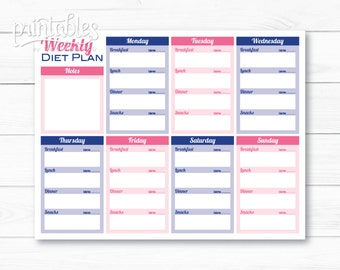 Whole 30 printable food journal meal planner weight tracker customizable meal planner with calorie tracker meal planner for weight loss printable food journal pronofoot35fo Image collections