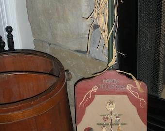 Vintage Feather Tree Santa Shovel