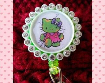Badge reel - zombie kitty