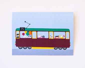 Greeting card Melbourne tram